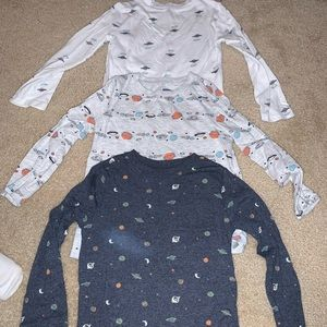 Set of 3 5t old navy space shirts